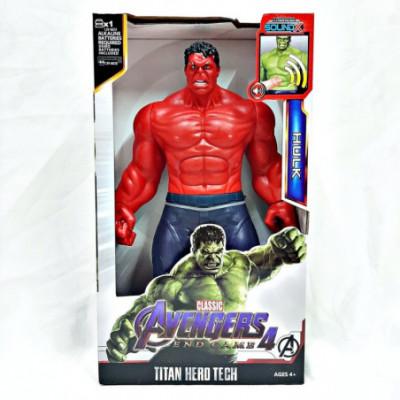 The Red Hulk figūrėlė su garsais / 30cm / lankstosi korpusas ir rankos