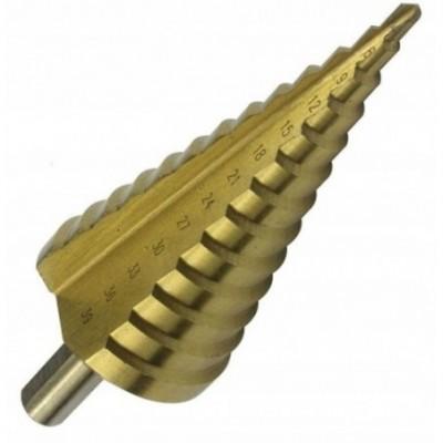 Grąžtas skylės platinimui, pakopinis 4-39mm